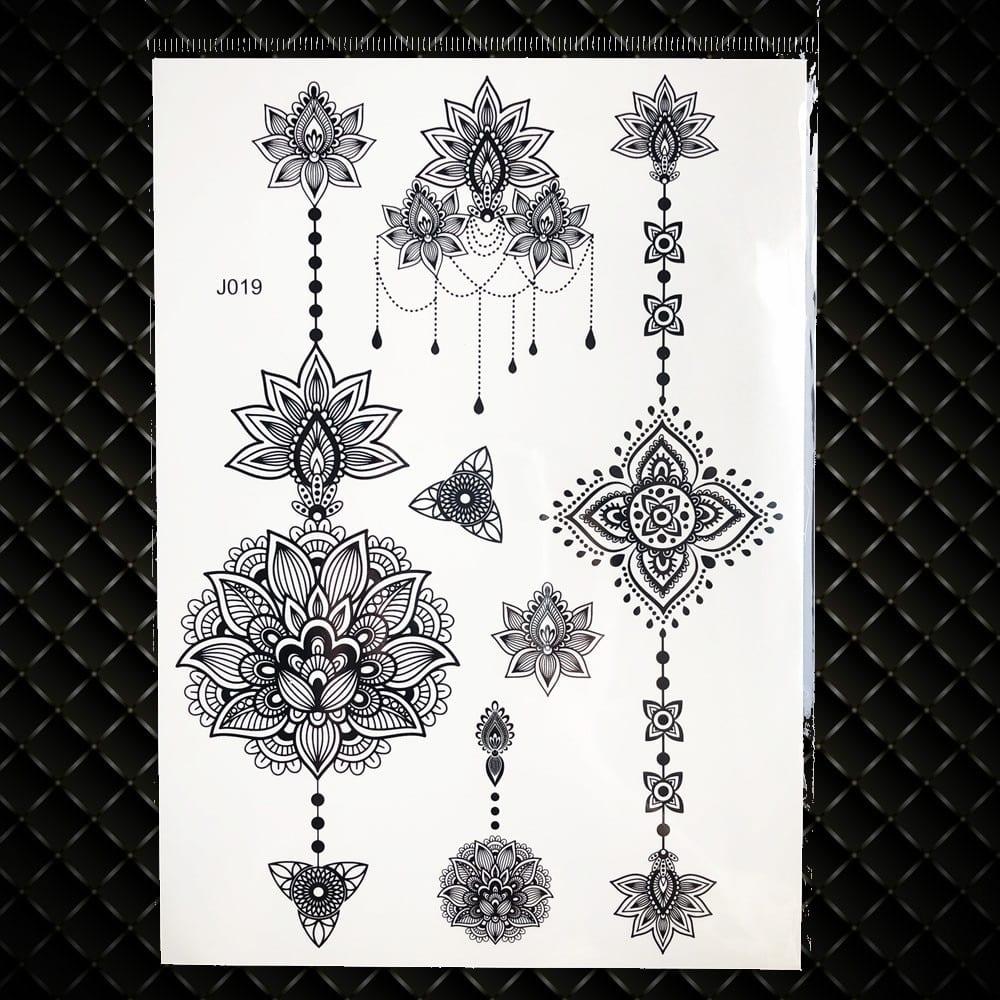 White Henna Dreamcatcher Temporary Tattoo For Women Wedding Body Art Tatoo Paste Waterproof Dream Catcher Fake Tattoo Stickers