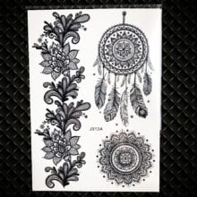 White Henna Dream Catcher Temporary Tattoo For Women