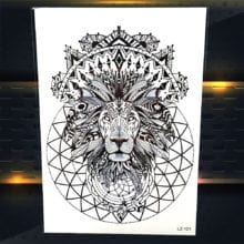 25 Design Indian Tribal Lion King Tattoo