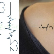 Heart Beat Waterproof Temporary Tattoo Sticker