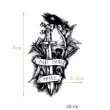 Immortal Knight Waterproof Temporary Tattoos Men Warrior Tatouage Temporaire Femme Tatoo Temporary Stickers