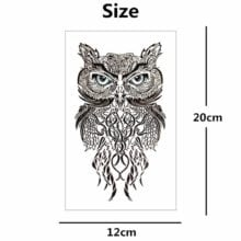Nu-TATY Wise Owl two Temporary Tattoo Body Art Flash Tattoo Stickers 12*20cm Waterproof Fake Tatoo Car Styling Wall Sticker