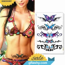 Sexy Butterfly 3d Garland Temporary Tattoo