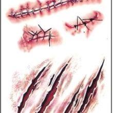 Unisex Halloween Zombie Scars Tattoos