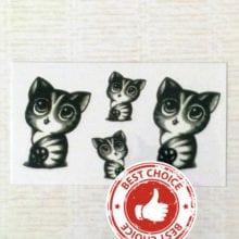 Waterproof Temporary Tattoo Sticker breast cute cat kitty tatto stickers flash tatoo fake tattoos for girl women