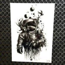 Spaceman Waterproof Tattoo Sticker For Women