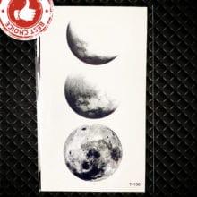 Small Galaxy Stars Moon Temporary Tattoo Sticker