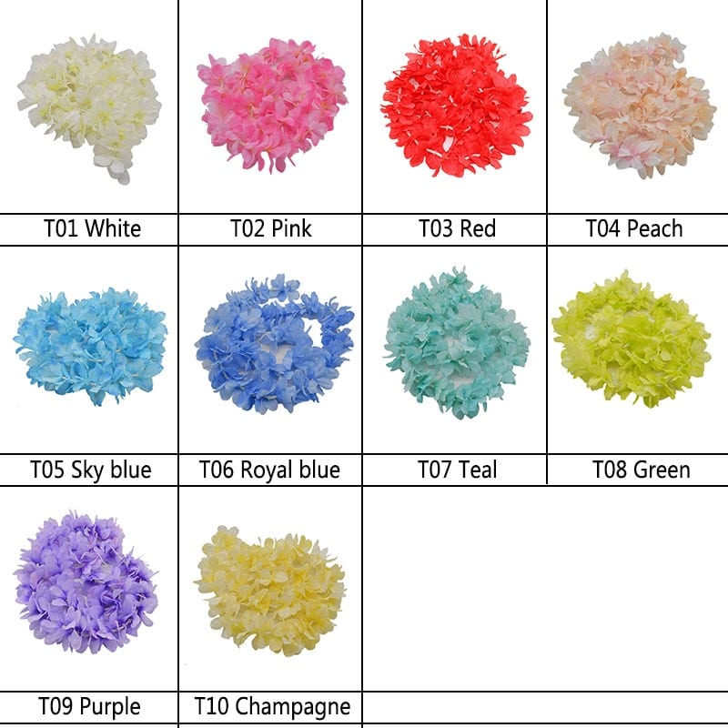 1 m Silk Hydrangea Wisteria Flower String For Wedding Wall Decor