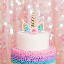 Multi Shade Unicorn Cake Topper For Birthday Party Decoration