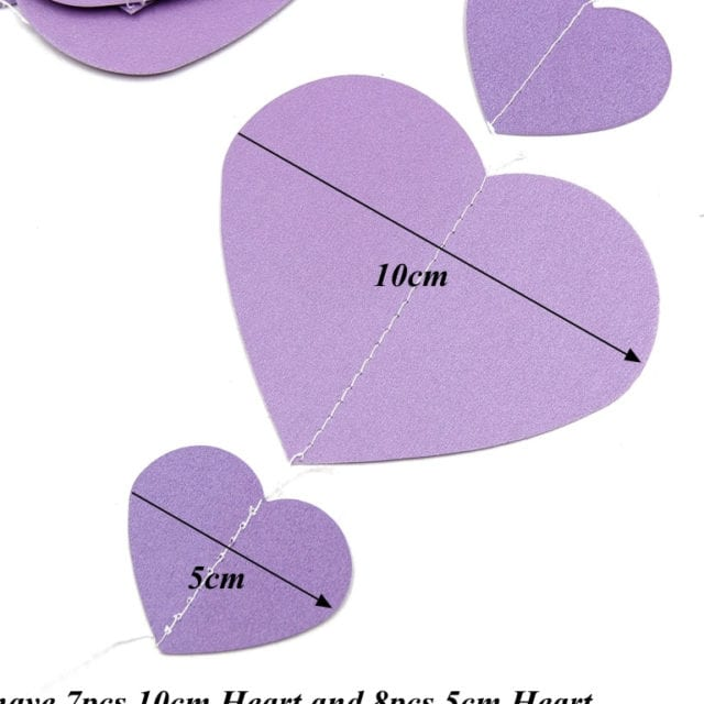 1 PC Romantic Heart Shape Hanging Paper String For Window Decals