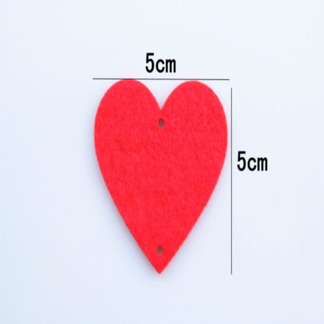 16 Hearts Romantic Wedding Decoration Marriage Room Layout DIY Non-woven Garland Creative Love Heart Curtain Wedding Supplies 6Z