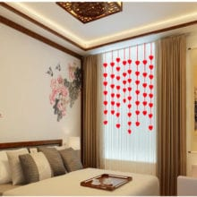 16 PCs Non-Woven Hearts String Marriage Room Hanging Decoration