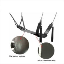 Top Leather Sling Sex Furnitures Fetish BDSM Bondage Sex Hammock Swing Chair Leather Bed Hammock And Pillow Sex Toys For Couples