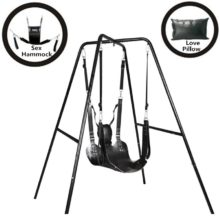 Top Leather Sex Swing With Stand For Naughty Couples