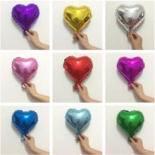 5 to 10 Heart Aluminium Festival Balloons For Wedding Ornaments
