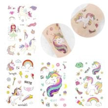 1 PC Cute Unicorn Temporary Tattoo Sticker For Kids Party