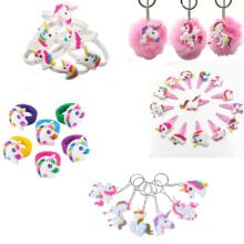 Unicorn Shape PVC Small Toys For Kids Birthday Party