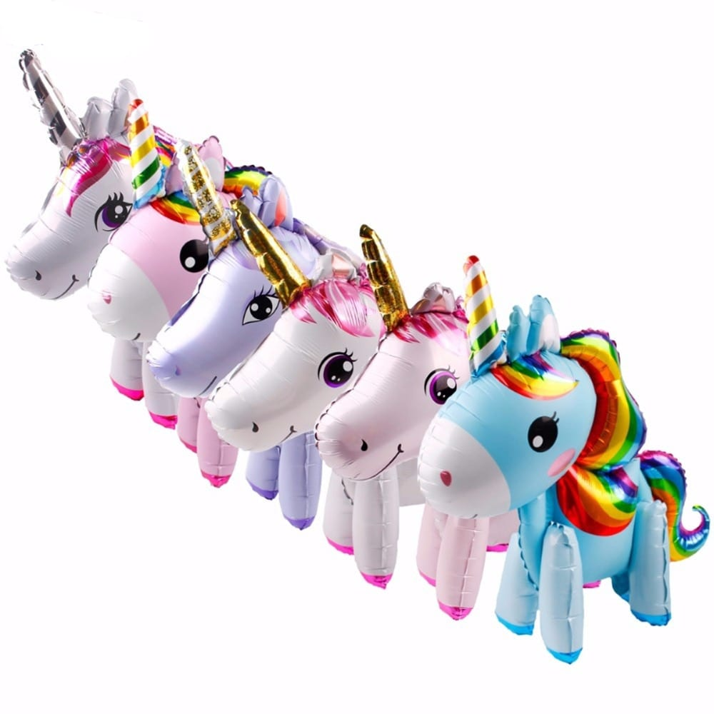 Unicorn Shape Latex Foil Balloons For Kids Party Decoration