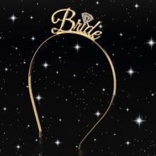 Metal Bridesmaid Tiara Crown Headband For Birthday Party