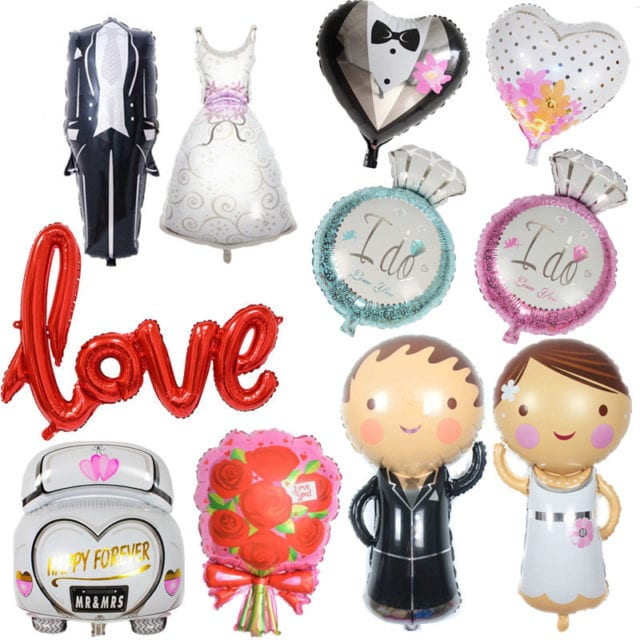 Wedding Decorations Groom Bride Love Balloons Team Bride To Be Bridal Shower Mr Mrs Ballon Bachelorette Party Diy Decoration