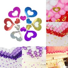 100 PCs Latex Balloon With Hanging Hearts For Room Decal