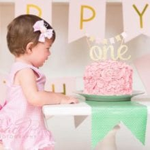 First Happy Birthday Glitter Cake Topper For Baby Birthday Event