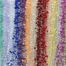 1 Meters Fishing Line Artificial Pearls Beads Chain Garland Flowers DIY Wedding Party Decoration Products Supply