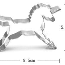 2 PCs Unicorn Cookies Cutter For Kids Birthday Party Decal