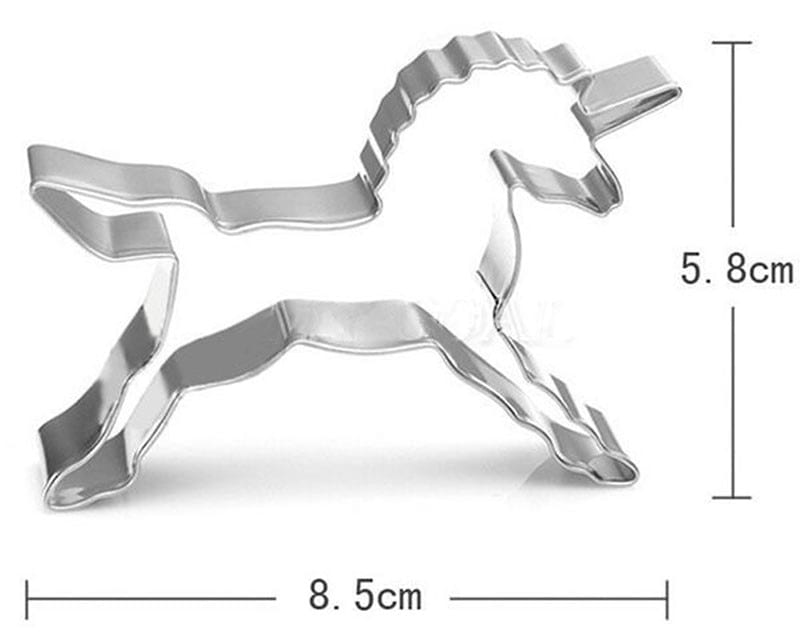 WEIGAO 2Pcs Unicorn Horse Cookies Cutter Mold Birthday Party Cake Decorating Fruit Cut Pastry Biscuit Baking Mould Cake Mould