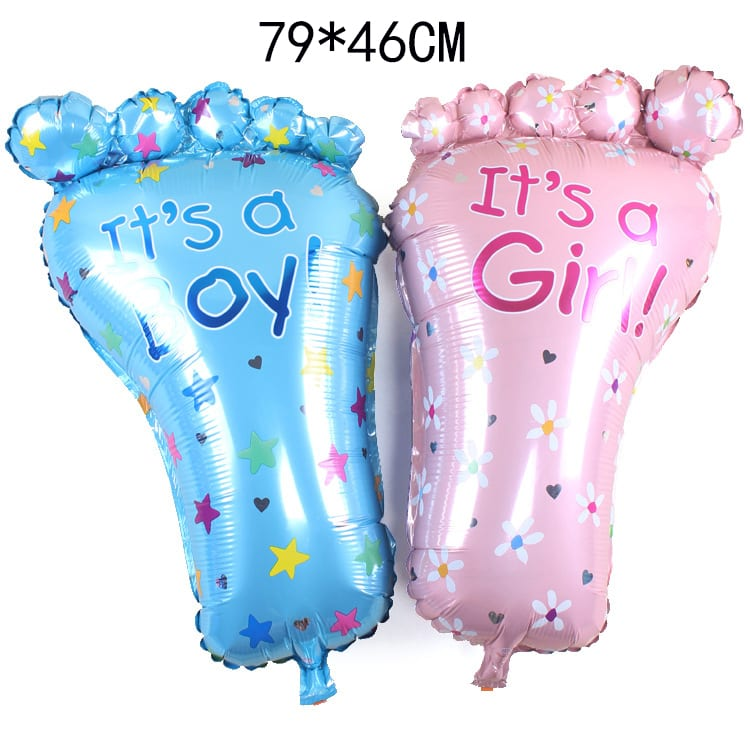 79 cm It's A Girl or Boy Cute Foot Foil Balloons For Birthday Party