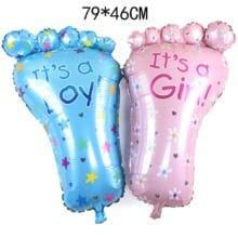 79 cm Its A Girl or Boy Cute Foot Foil Balloons For Birthday Party