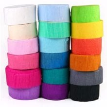1 Roll Crepe Paper Streamer Roll For Birthday Party Supplies