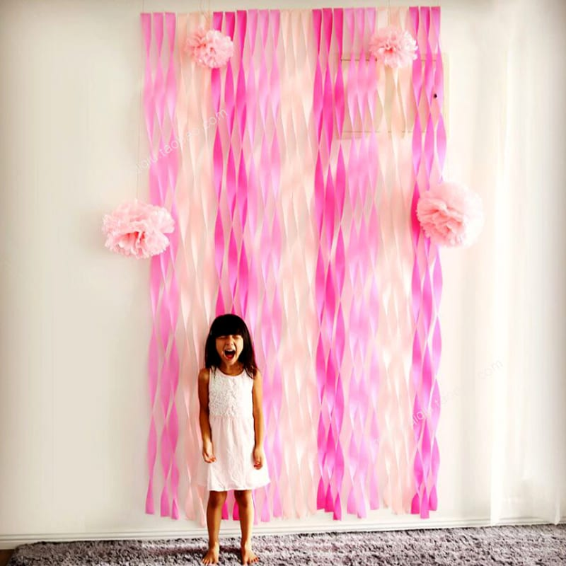 Hot 1 Roll 5*1000cm DIY Crepe Paper Streamer Roll Wedding Birthday Party Supplies Venue Decorations