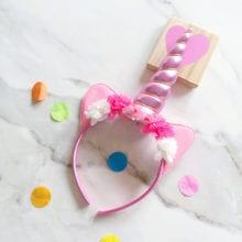 Unicorn Shape Plastic Hair Band For Kids Birthday Party