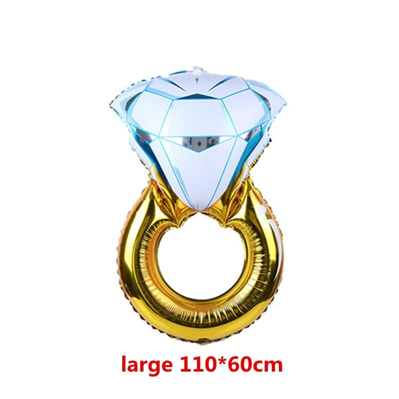 Diamond Ring Wedding Decor Marriage Balloons Lover Engagement Foil Valentine Balloon Wedding Gifts for Guests Party Supplies,8