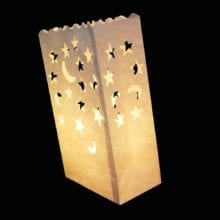 50 PCs 25 cm White Paper Lantern Bag For LED light Romantic Decor