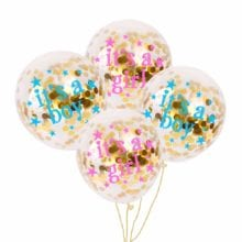 FENGRISE Its a Girl Baby Shower Balloons Kraft Paper Garland Baby Shower Decoration Party Supplies Gender Reveal Party Decor