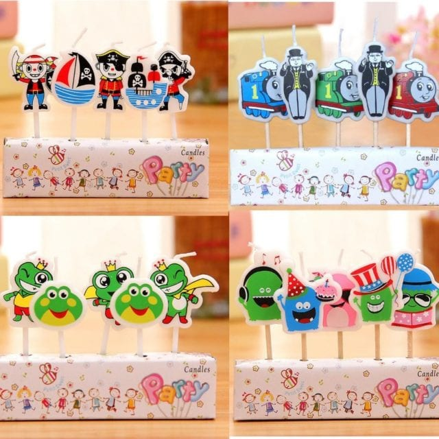 2017 Creative Cartoon pirate frog princess cake candle topper cake cupcake candles decoration for baby boys girls birthday