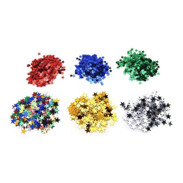 6mm/ 10mm Stars Table Confetti Sprinkles Birthday Party Wedding Decoration Blue Gold Silver Green Metallic Stars