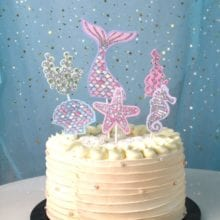 1 Set Mermaid Theme Cake Insert Birthday Party Decorations Kids Happy Birthday Wedding Decorations Baby Shower Party Supplies.q