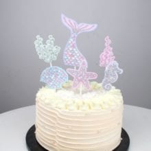 1 Set Mermaid Theme Cake For Birthday Party