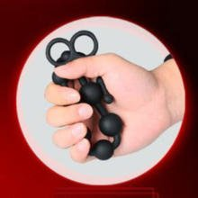 Silicone Anal Plug With Black Beads For Gays