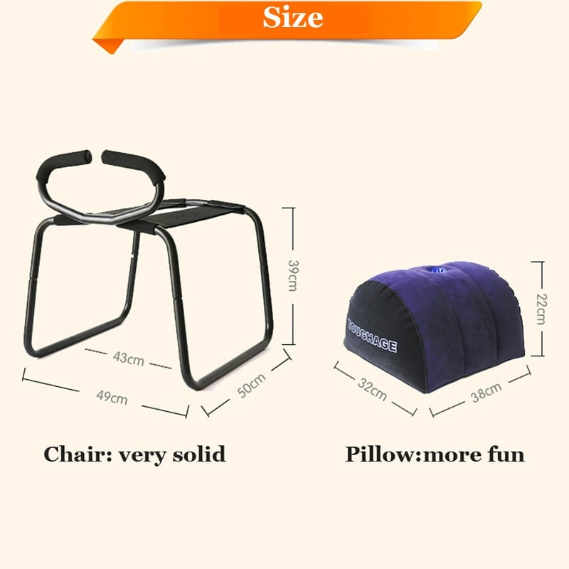 Bounce Sex Stool With Handrail And Inflatable Pillow