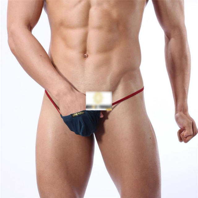 Homosexual Solid Breathable Nylon G-string For Man