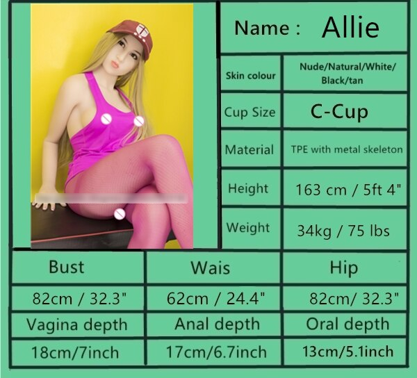 sex doll body specifications