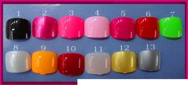 toe nail color options for love doll