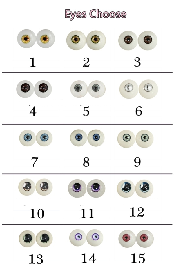 eye color options for your love doll