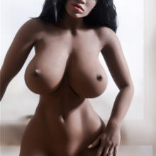 Black silicone sex doll with juicy boob and sexy body 158cm