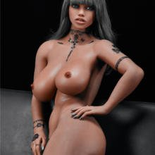 Big booty black sex doll with solid metal skeleton 158 cm