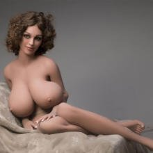 Big Sex Doll Breasts Made of Pure TPE Silicone 167cm Tall